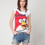 T-shirt Angry Birds donna