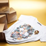 T-shirt teschio con spilla della Golden Issue di Gaudì