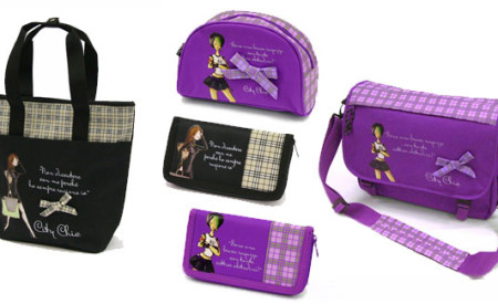 Le collezioni di borse e accessori Black e Purple di City Chic Collection by Biembi