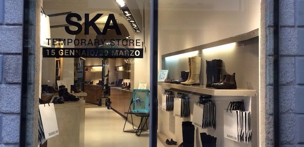 Temporary store Ska Shoes a Milano