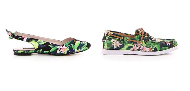 Tropical Love modelli chanel e boat shoes