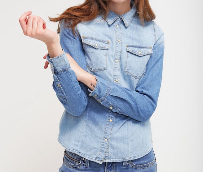 Camicia in denim Only light blue