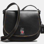 Mickey Saddle Bag 23 Disney x Coach nera