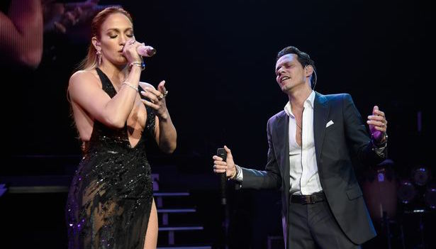 Jennifer Lopez con Marc Anthony al Radio City Music Hall