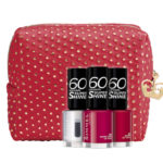 Pochette Super Shine kit con pois dorati