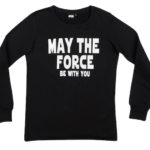 Felpa nera ZUIKI Star Wars - May The Force Be With You