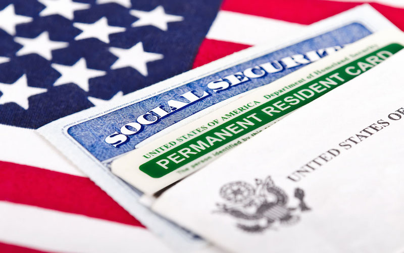 Green card social security usa