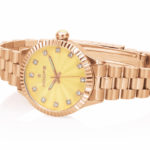 Orologio Hoops Luxury Diamonds Gold con quadrante giallo