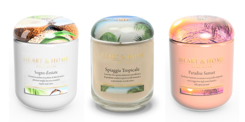 Candele Heart & Home fragranze tropicali