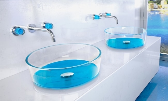 Lavabo bagno Glass Design Drop Katino marine