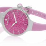 Orologi Hoops Cherie 160 Diamonds - Silver rosa shocking