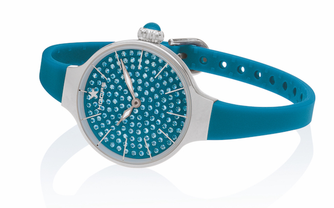 Orologi Hoops Cherie 160 Diamonds - Silver royal blue