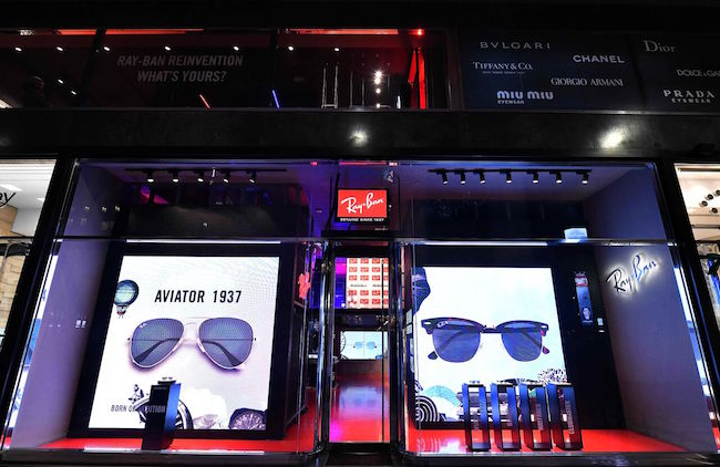 Pop-up store Ray-Ban a San Babila