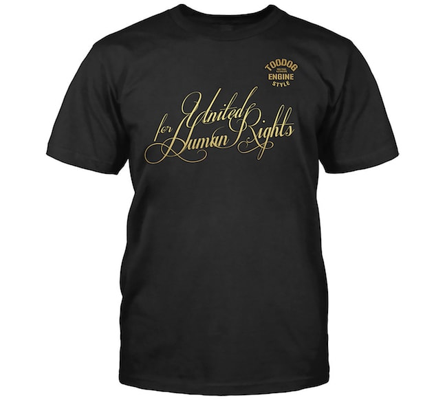 T-Shirt United for Human Rights di Toodog
