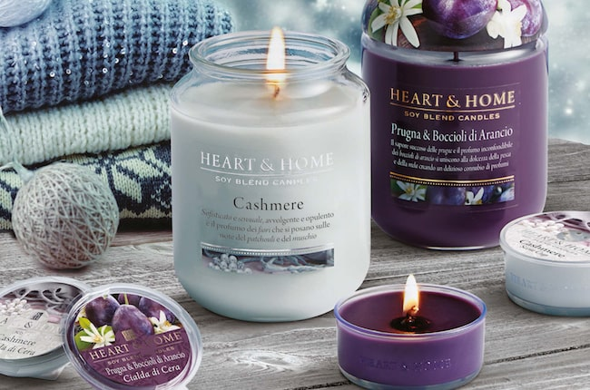 Candele profumate Heart and home per autunno 2018