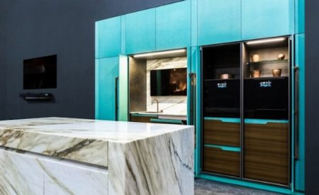 La cucina Blue Tiffany: Essential LTD di Toncelli